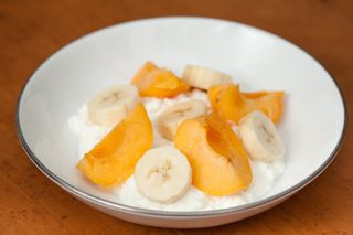 Cottage Cheese, Apricots, Bananas